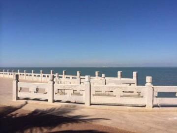 海边沿海大提花岗岩栏杆 护栏石