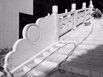 台阶石护栏栏杆雕刻 花岗岩栏杆