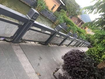芝麻黑河栏杆 护栏石材