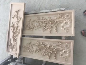 砂岩浮雕 梅花 墙面装饰