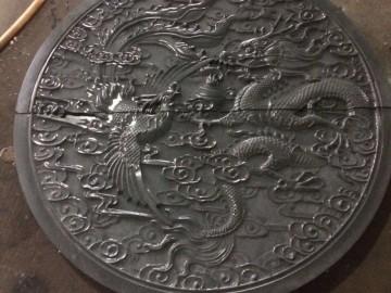 龙凤呈祥石材圆形浮雕 TH-020