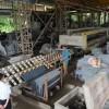 长泰恒益石材厂花岗岩自动磨机加工芝麻黑G654石材