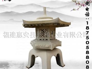 石雕仿古灯景观灯柱 园林圆雕浮雕技术相结合-- 福建惠安县熙和石业有限公司