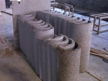 弧形板 石材圆柱 空心柱 表面磨光