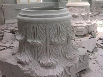 石材异形产品 罗马柱 柱帽