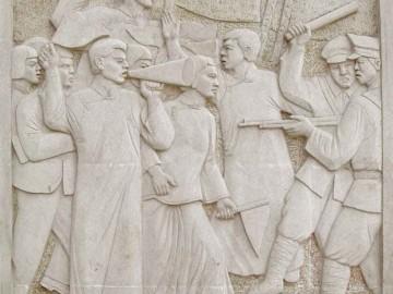 砂岩数控雕刻 历史剧雕刻墙