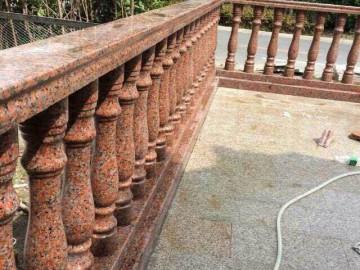 枫叶红栏杆 庭院栏杆护栏应用
