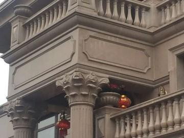 别墅石材罗马柱 栏杆装饰