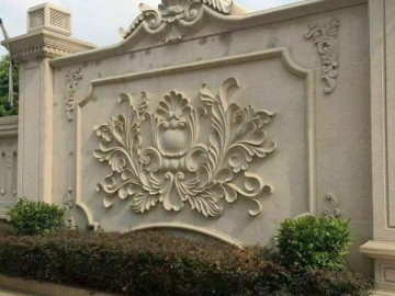 别墅石材围墙雕花
