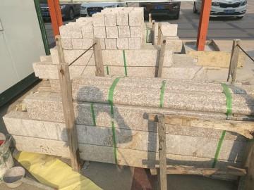 桃花红栏杆  压顶 石材栏杆护栏配套供应