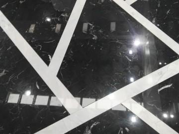 黑玉冰花地板拼贴