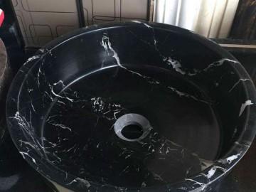 黑玉冰花圆形洗手盆