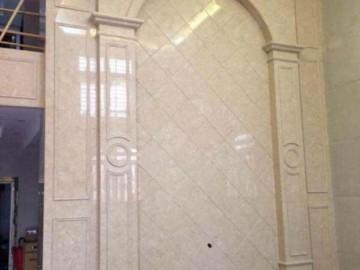 大理石背景墙 适合两层高复式楼装修