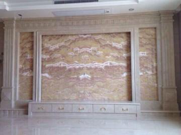 玉石配大理石家装背景墙装饰