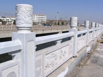 花岗岩河栏杆 河道栏杆护栏供应