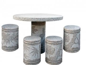 石桌椅配套 一桌四椅 休息桌