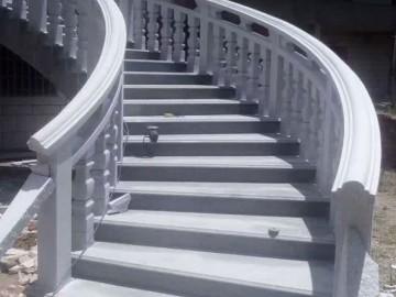 大别墅石材栏杆 弧形护栏装饰