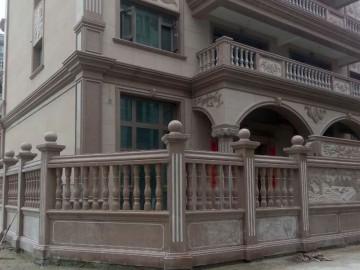 闽南地区别墅石材栏杆装饰