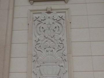 别墅外墙雕花 锈石