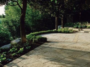 花岗岩仿古面地铺 防滑 园林石材装饰供应