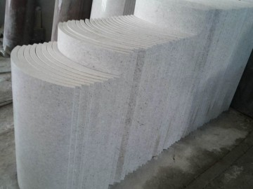 珍珠白圆柱 圆弧板