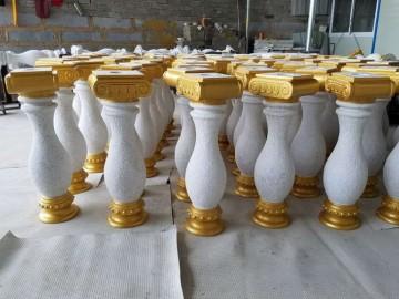 珍珠白桥栏杆 护栏应用 镶金处理工艺