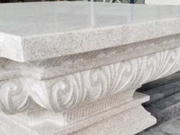 珍珠白柱子应用 异形雕花