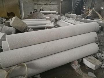 石材圆柱 实心柱表面粗糙