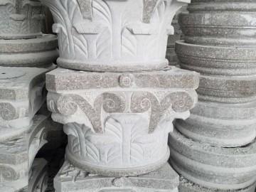 石材圆柱底座 罗马柱柱头