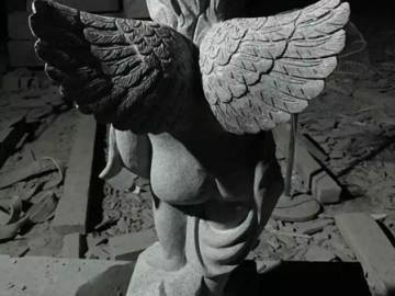 G654石材天使浮雕-- 长泰县振琪石材