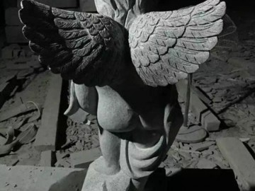 G654石材天使浮雕