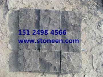 中国黑蒙古黑石材自然面 开裂-- 五岳石业