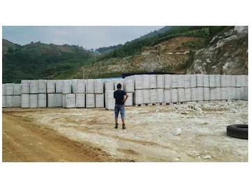 水晶白大理石直销供应 荒料&栏杆料&碎石
