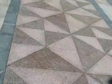 花岗岩地铺应用-- 山东汶上县旭磊石业