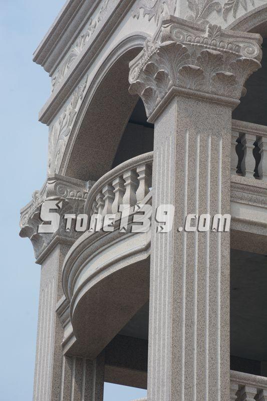 正门的大方柱子  欧式风格罗马柱   一楼大门特写   豪宅