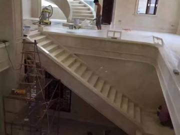 别墅楼梯 旋转楼梯石材装饰