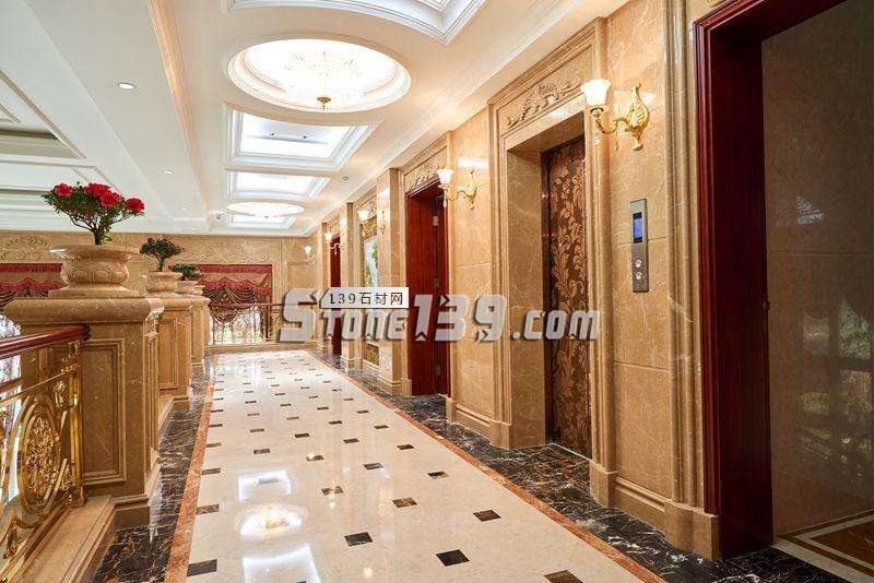 大理石家装 大理石装饰 电梯门套-- 联群-泰和石匠