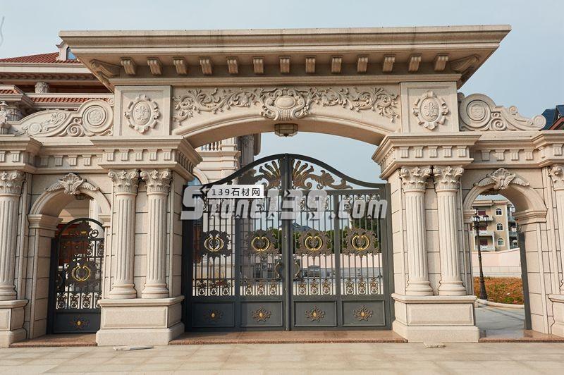 别墅大门 别墅拱门 别墅装饰-- 联群-泰和石匠