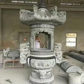 石材雕刻加工 寺庙香炉