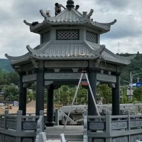 石材雕刻 凉亭 六角亭