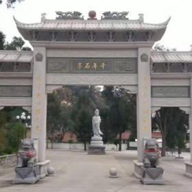 石雕牌楼 古建筑门牌坊雕刻