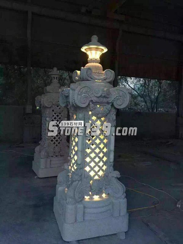 园林灯笼 仿古石雕灯笼-- 泉州国豪石业有限公司