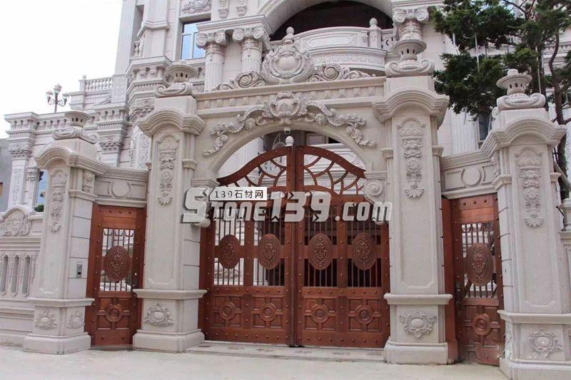 别墅大门 拱门 雕刻装饰-- 泉州国豪石业有限公司