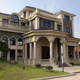 别墅石材 罗马柱装饰效果