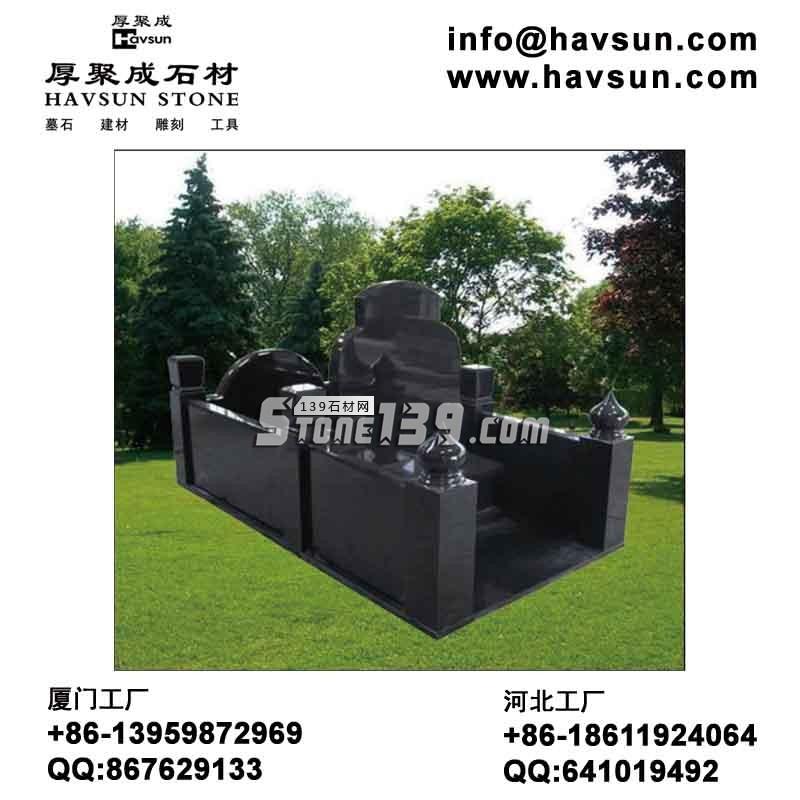 花岗岩中式墓碑-- 北京厚聚成石材
