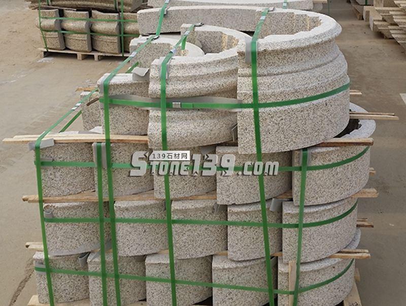湖北随州黄金麻 圆柱柱座-- 明鑫石材有限公司