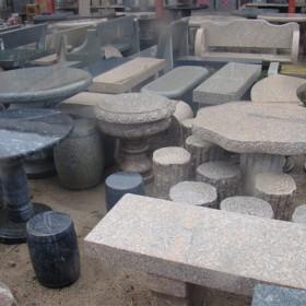 花岗岩石桌石凳配套供应