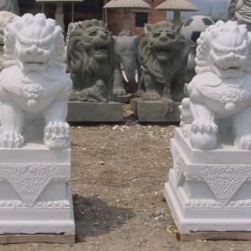 石狮子 石材雕刻 镇宅石狮