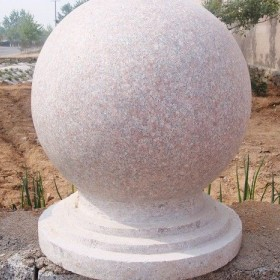 五莲红石球风景球 花岗岩圆球