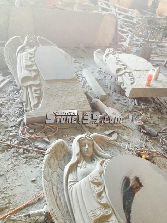 花岗岩天使墓碑 西式墓碑-- 河北宏泽石材有限公司